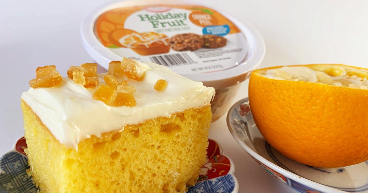 カリフォルニア・ヘルシー・ビタミンCケーキとオレンジ・ボール America-Traveling.com