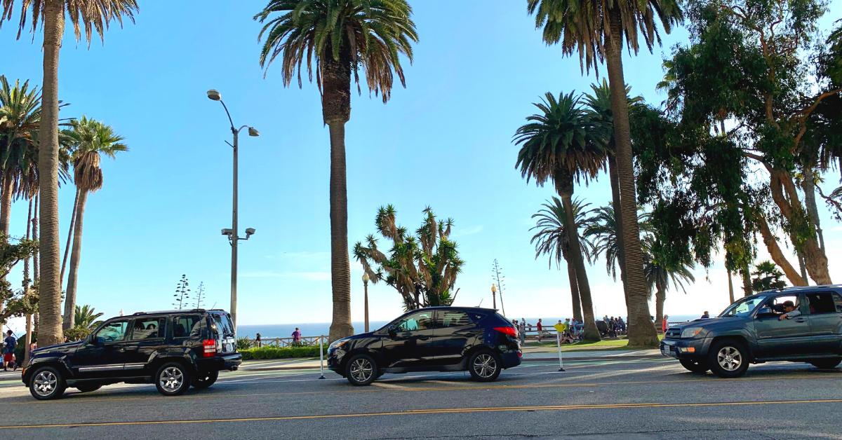 ロサンゼルスの高速道路は、タコの8本足のように、もつれ、からまっています。